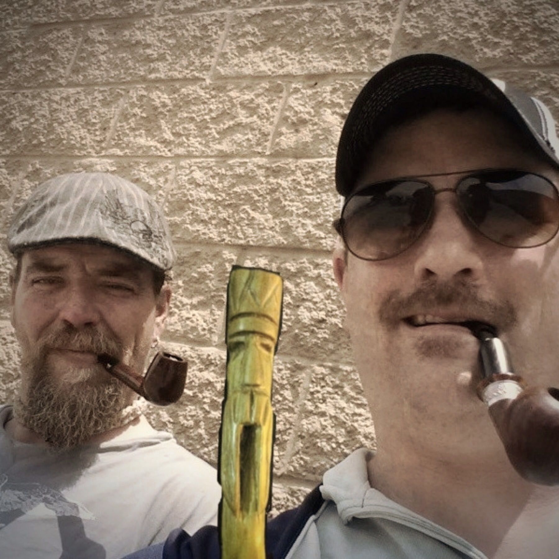 Me and The smoking pipeliner and Blue Collar piper